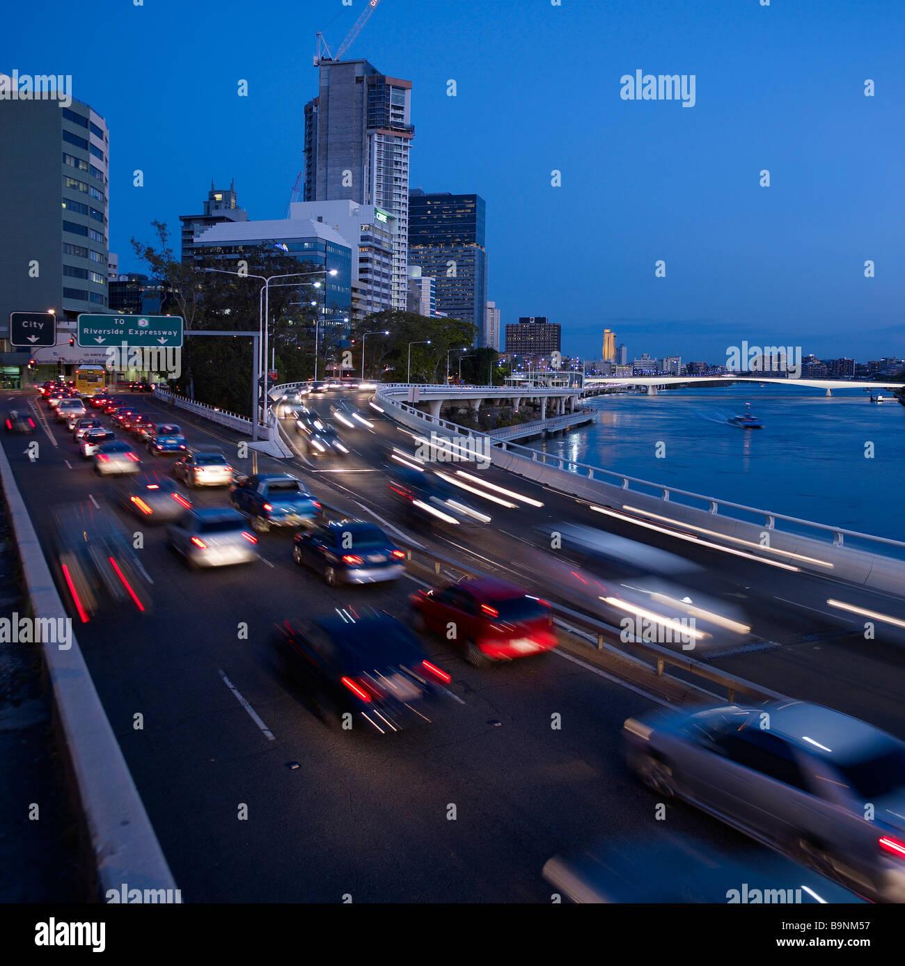 Riverside expressway Brisbane Australia - Stock Image