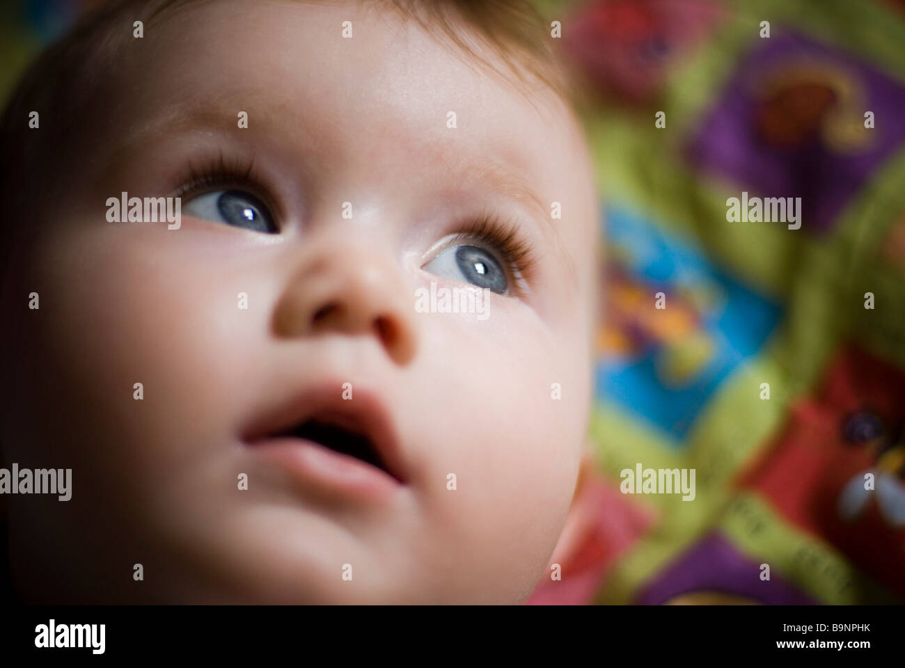 Baby's face close-up - Stock Image