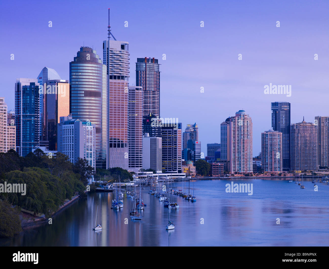 Brisbane Australia cityscape view from Kangaroo Point - Stock Image