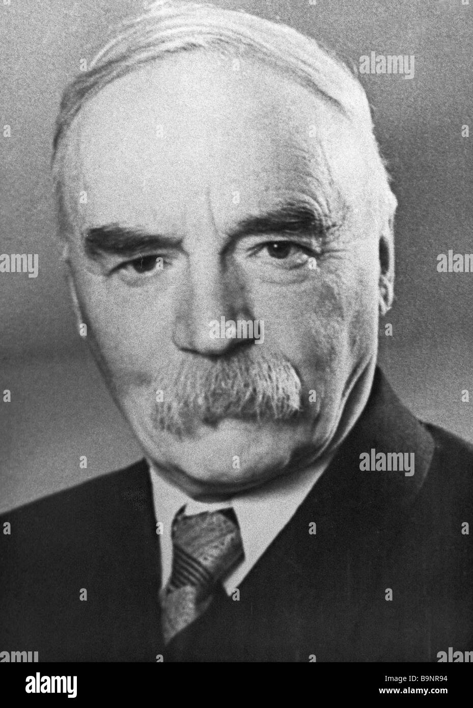 Archeologists and ethnographer Sergei Rudenko 1887 1969 - Stock Image