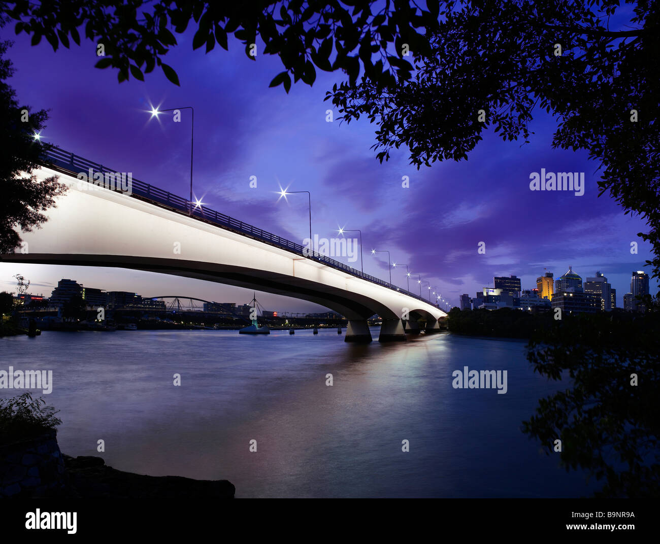Captain Cook Bridge Brisbane Australia - Stock Image