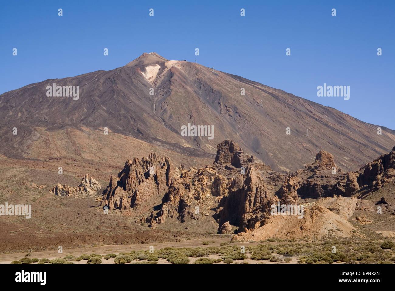 Spain Canary Islands Tenerife Llano de Ucana & Mount Teide - Stock Image