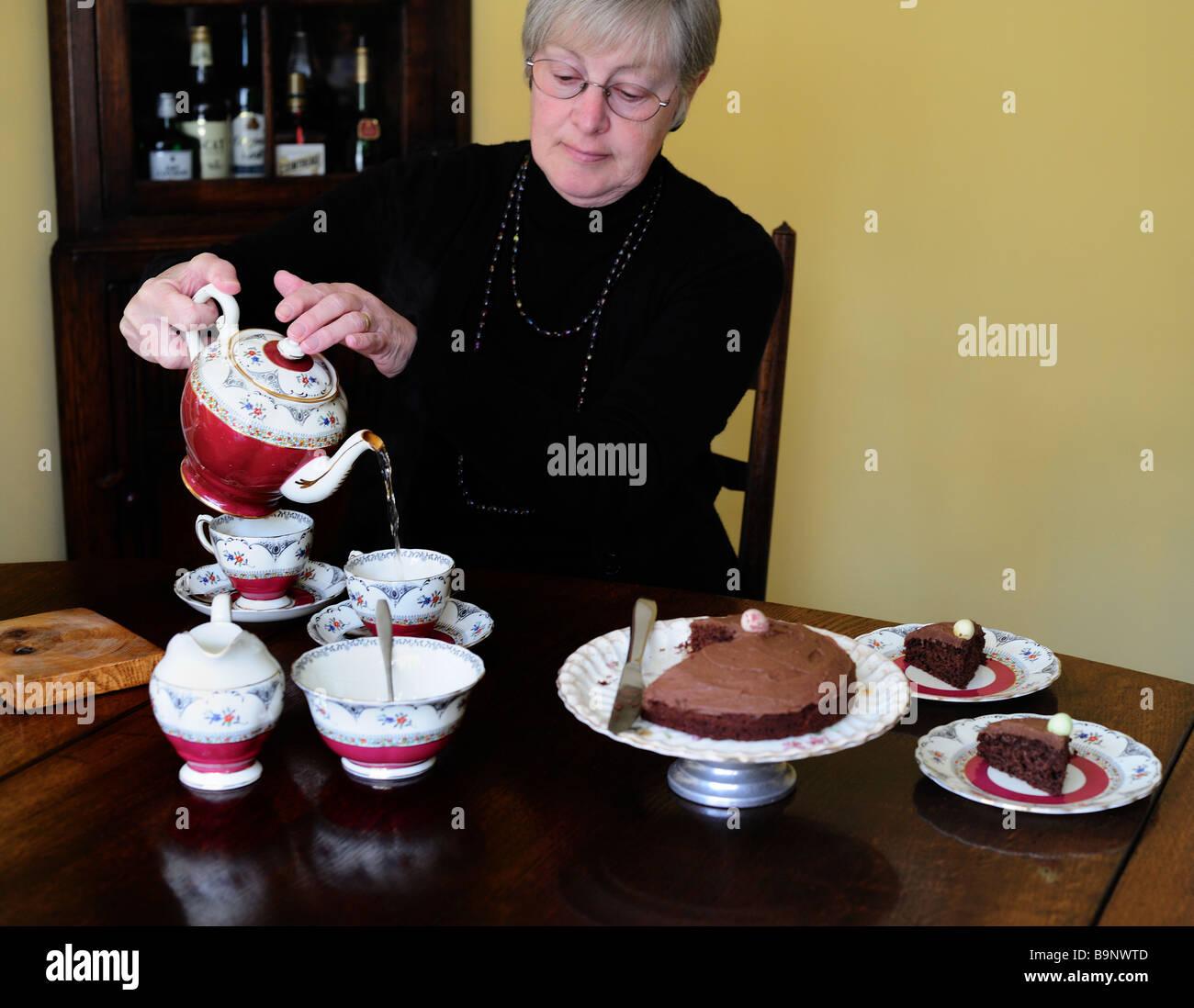 English Afternoon Tea - Stock Image