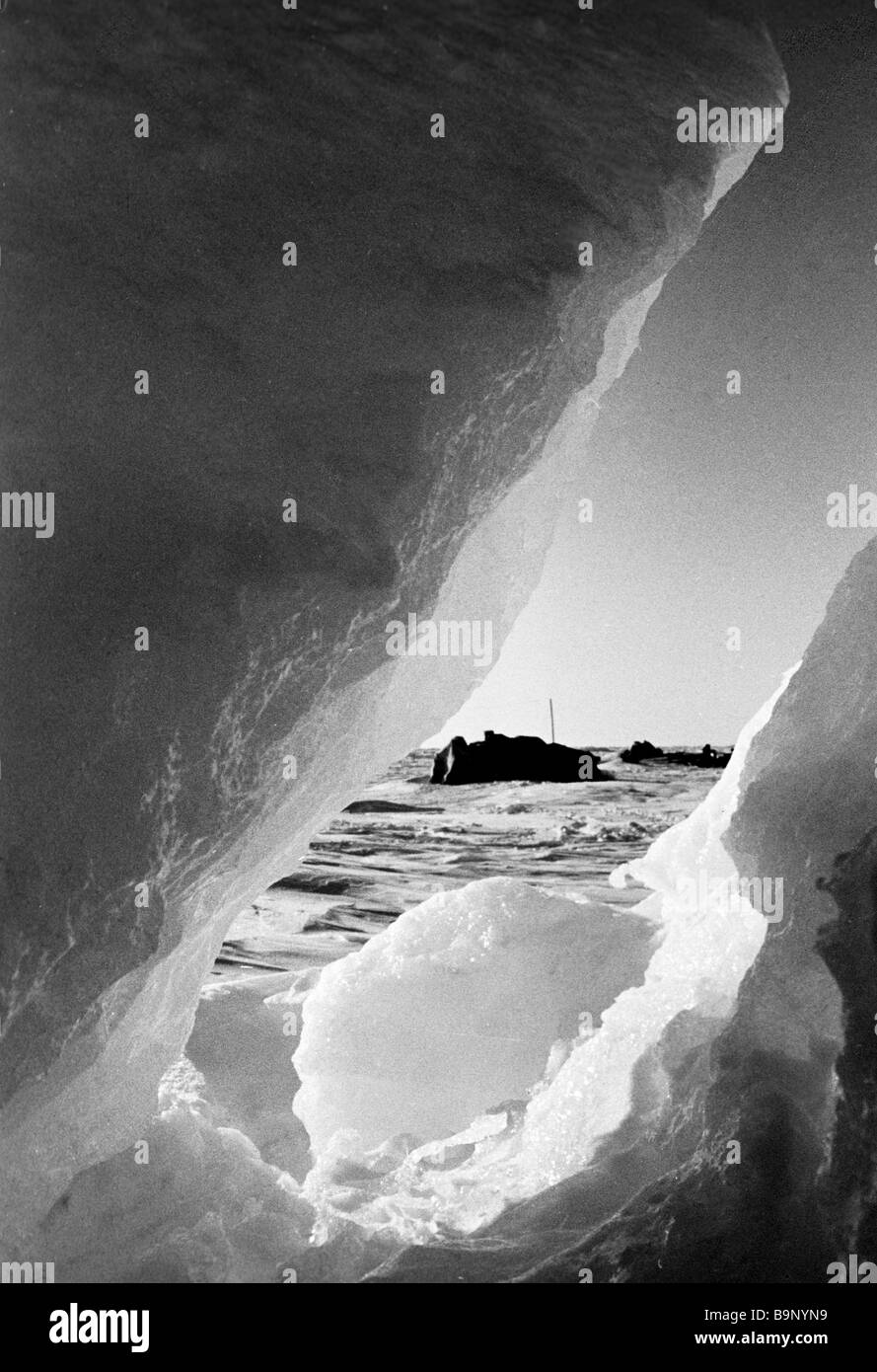 North Pole 14 drifting station - Stock Image