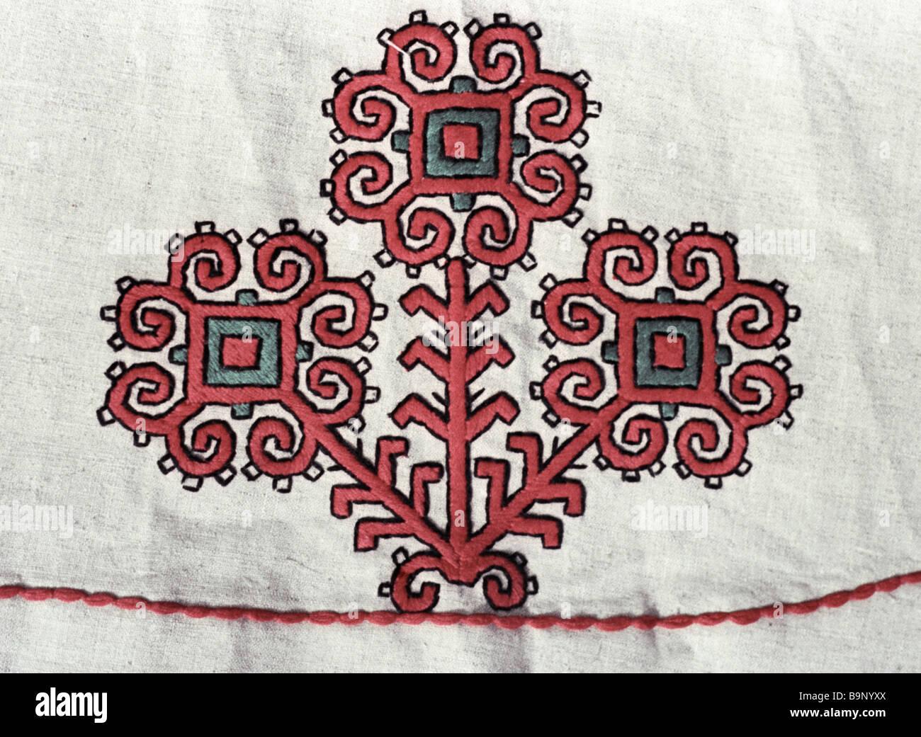 Mary national needlework - Stock Image