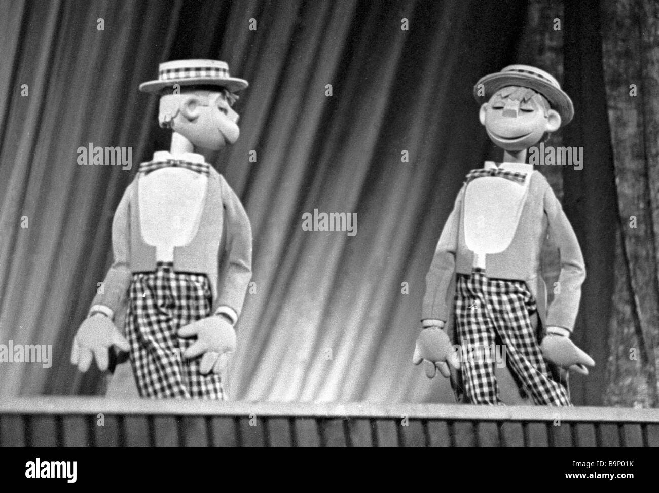 An Unusual Concert staged by Sergei Obraztsov People s Artist of the USSR art director of the State Central Puppet - Stock Image