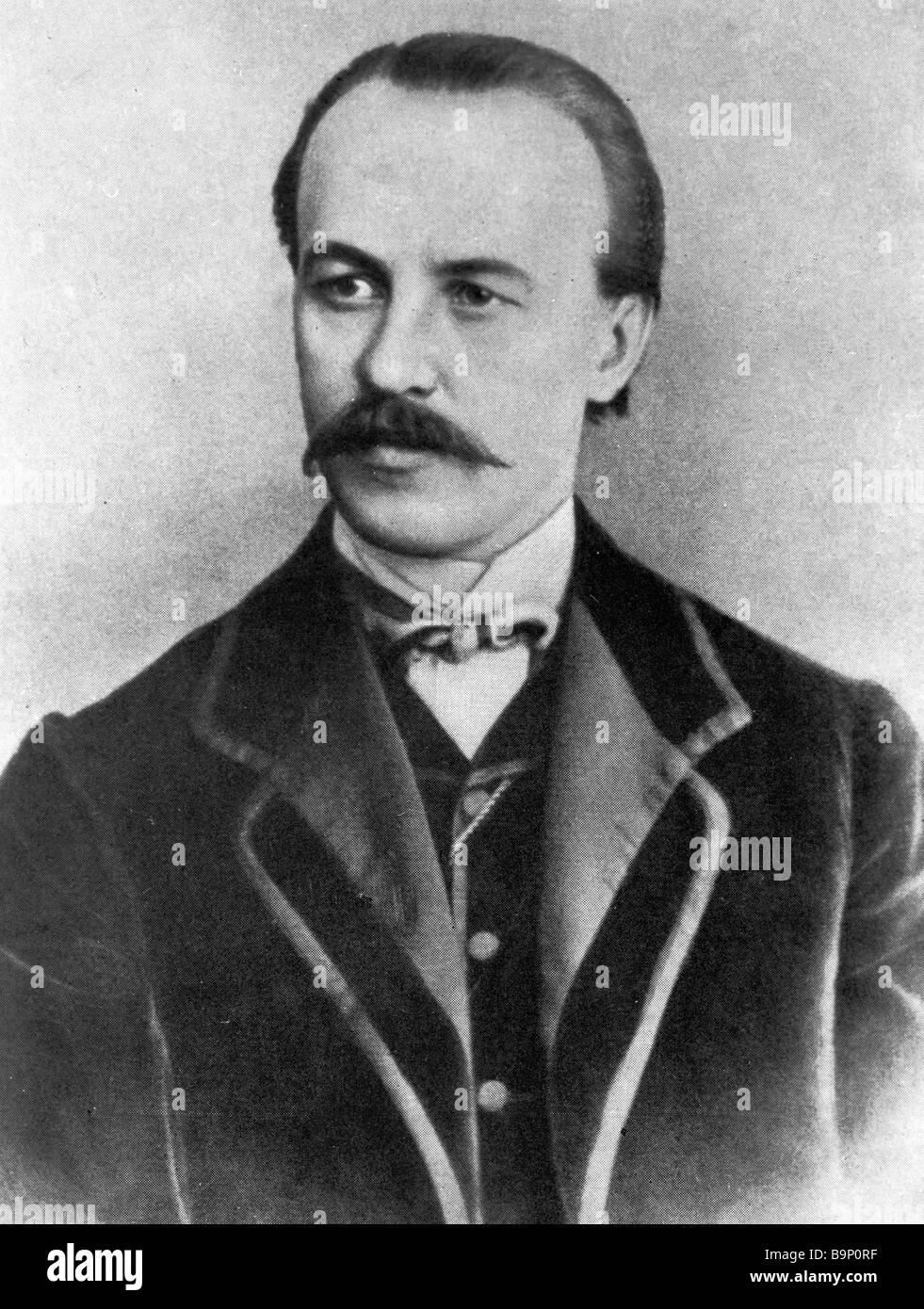 Russian artist ballet master Lev Ivanov 1834 1901 - Stock Image