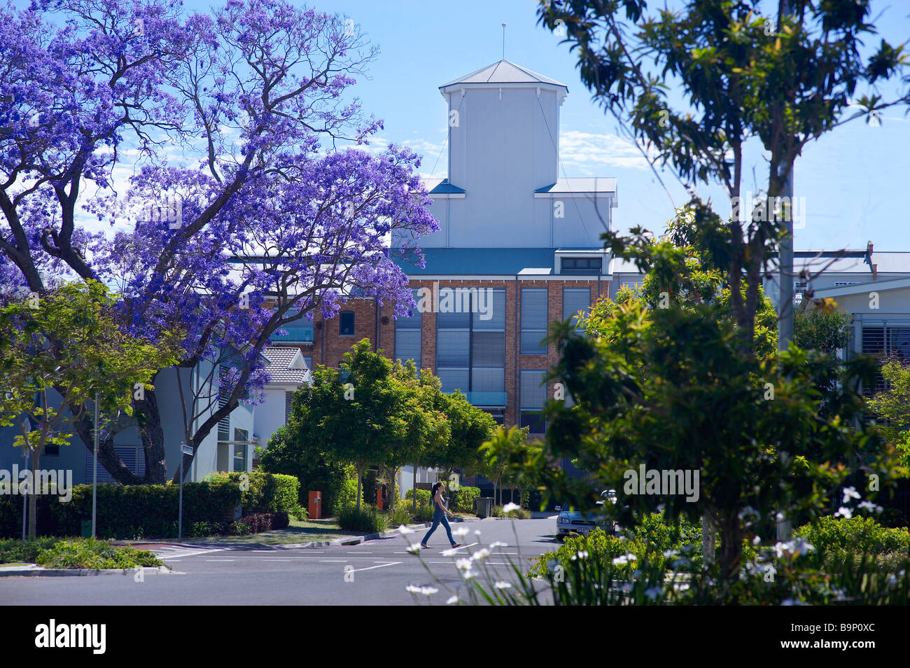 Sugar Refinery Apartments Brisbane Australia - Stock Image