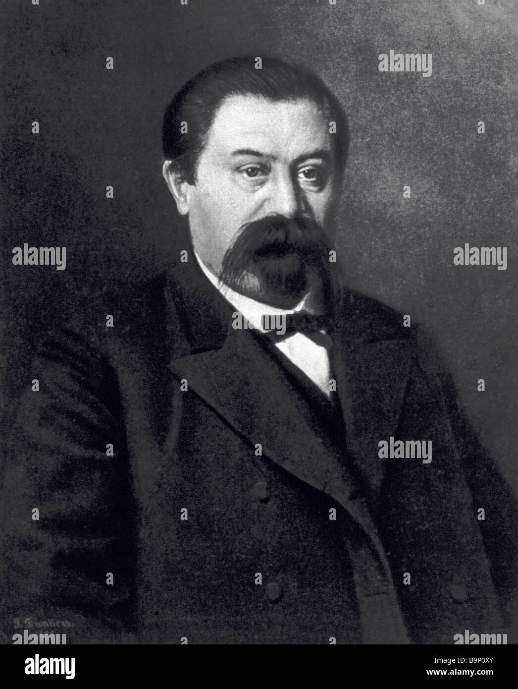 German Brokar 1836 1900 founder of the first Russian perfume factory - Stock Image