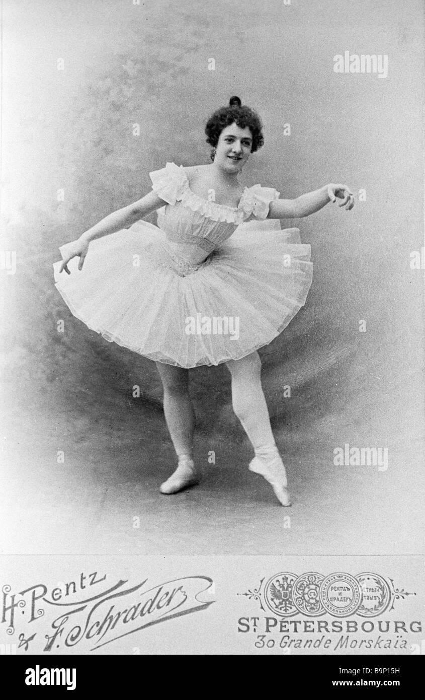Ballerina Agrippina Vaganova 1879 1951 - Stock Image