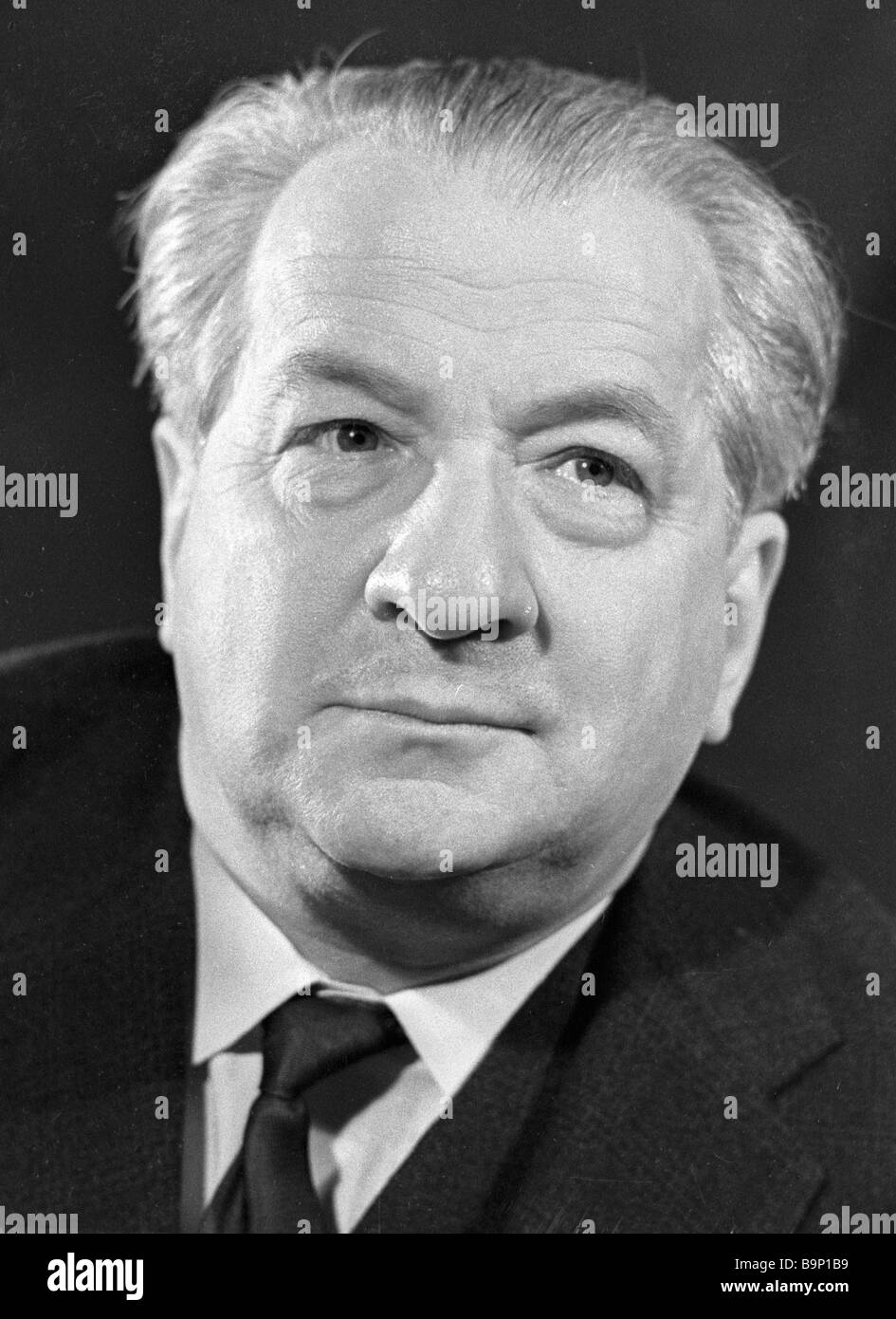 Writer and literature theorist Irakly Andronikov - Stock Image