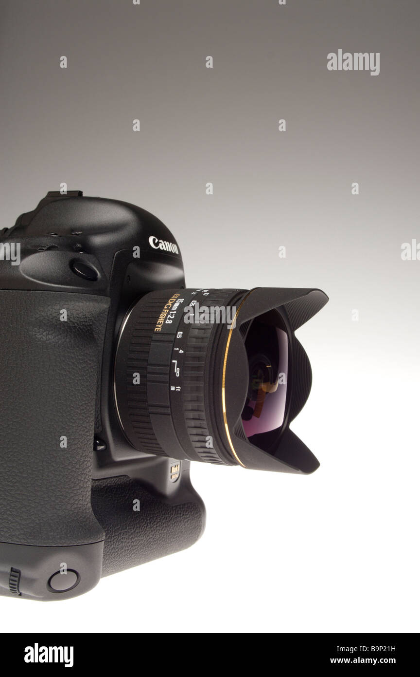 Canon 1Ds MkII with 15mm Sigma fisheye lens - Stock Image
