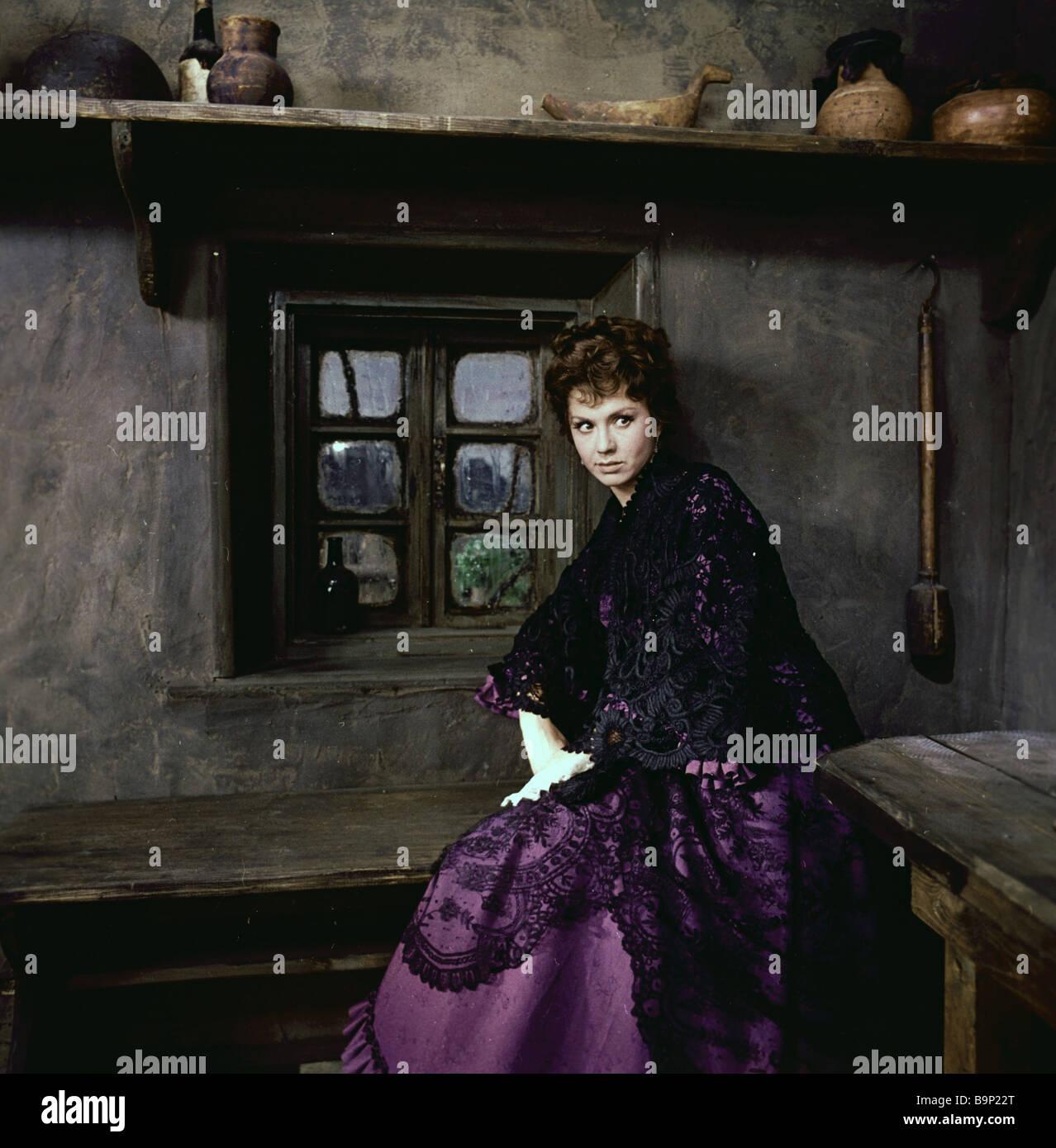 Lionella Pyryeva as Grushenka in Ivan Pyryev s movie The Brothers Karamazov - Stock Image