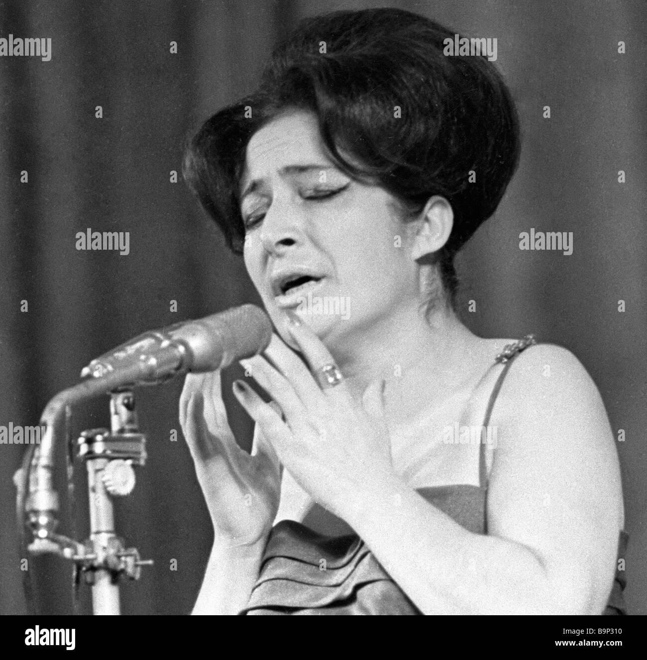 Georgian pop singer Lili Gegelia - Stock Image