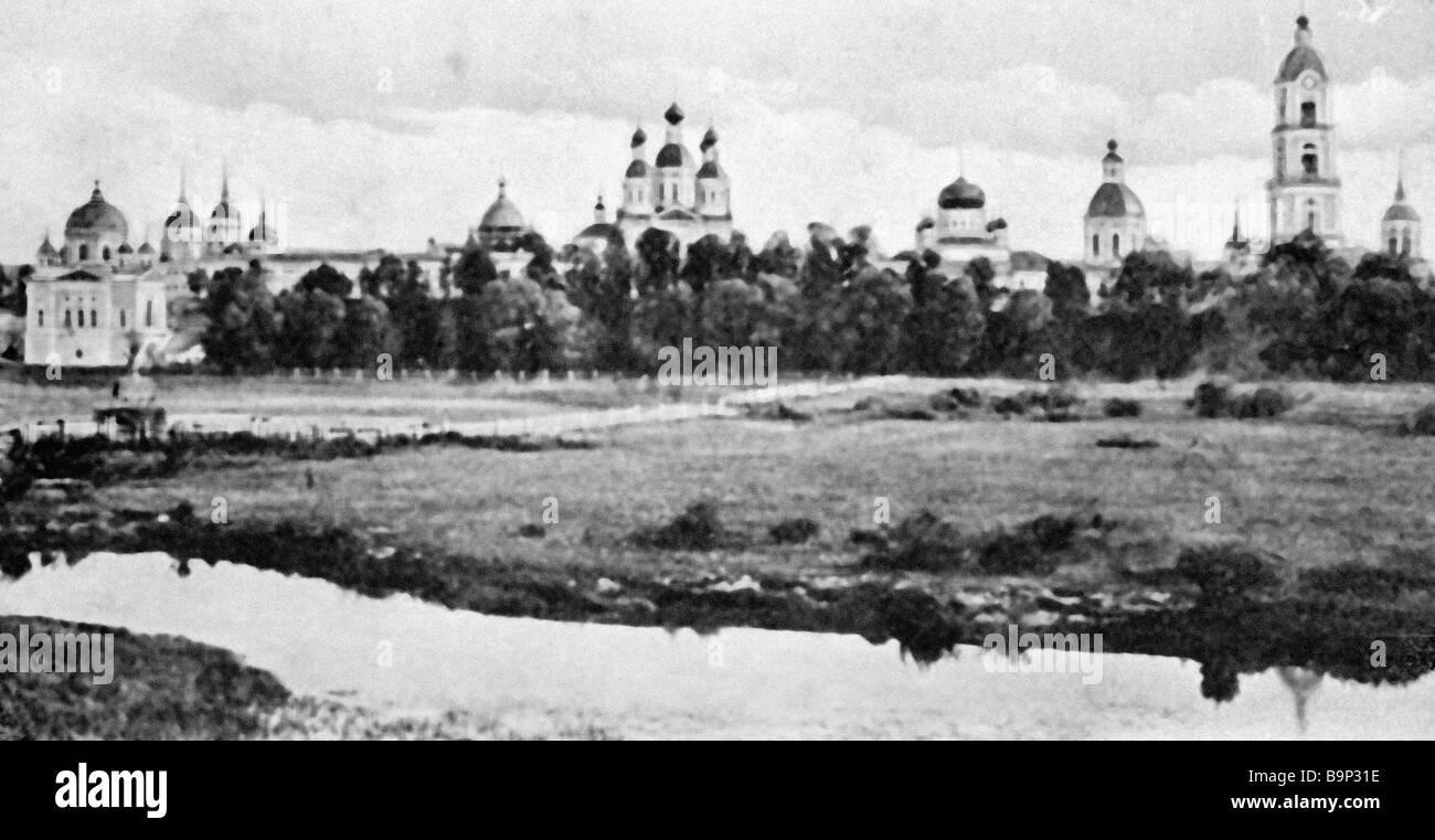 The Sarovsky Monastery where famous nineteenth century Serafim of Sarov lived - Stock Image