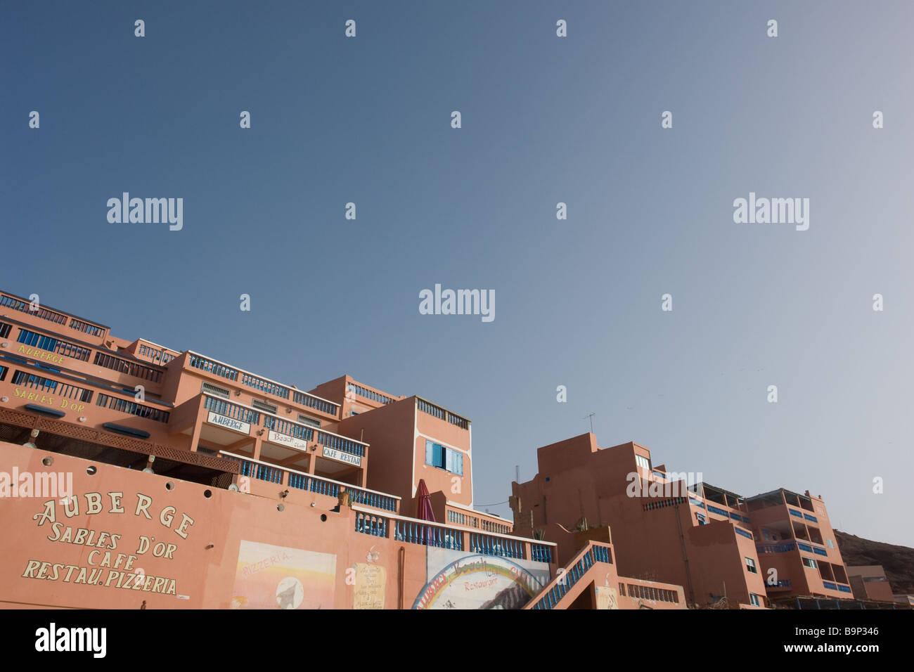 Accomodation at Legzira or Lagzira (Sidi Ifni, Southern Morocco) - Stock Image
