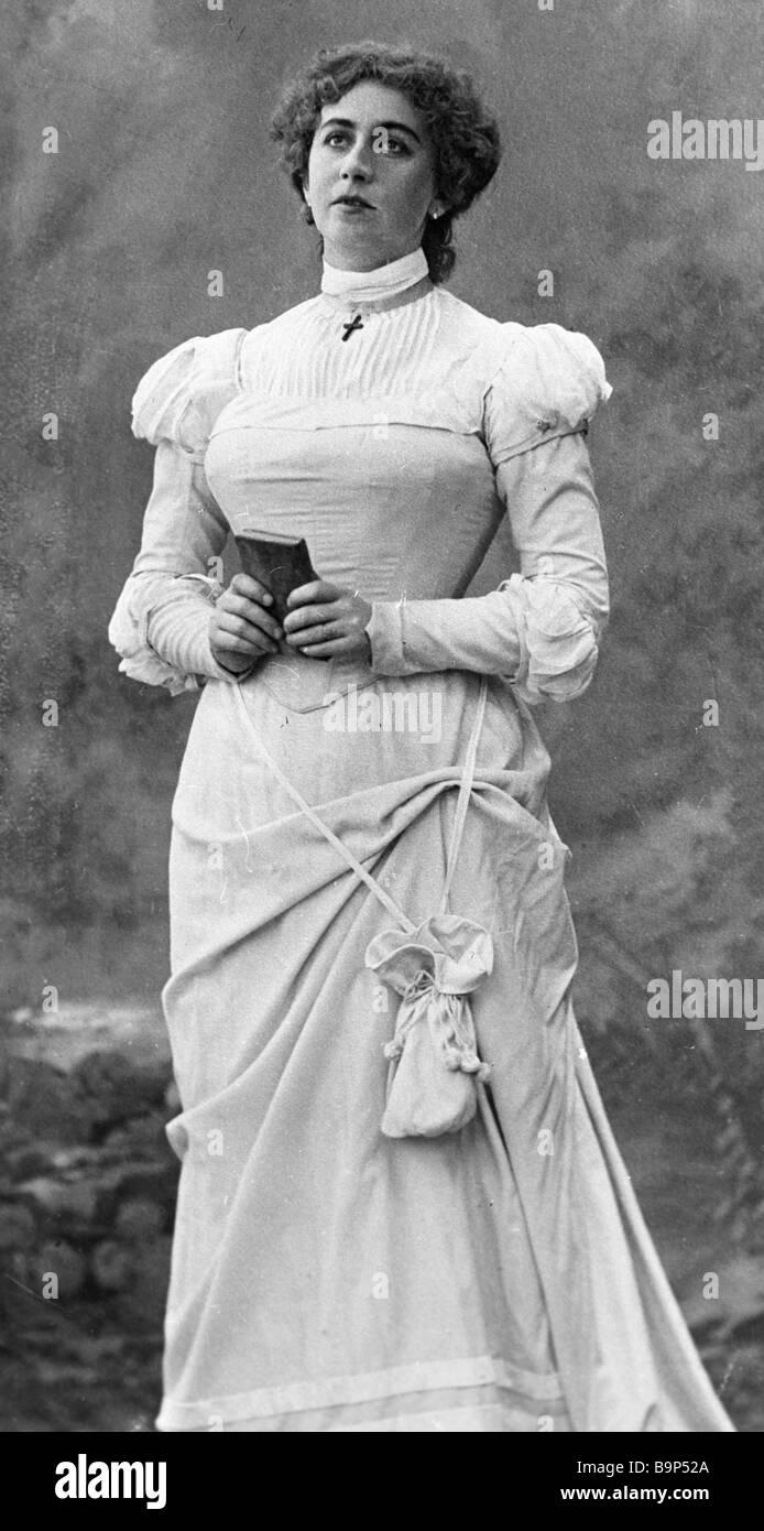 Singer Antonina Nezhdanova as Margaret in Charles Gunod s opera Faust - Stock Image