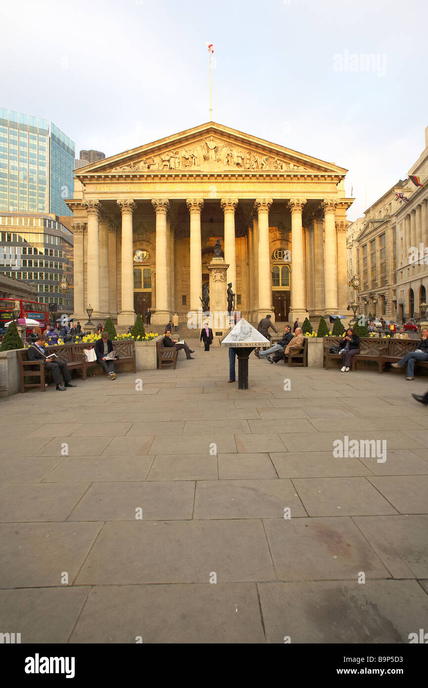 The Royal Exchange in the City of London England UK - Stock Image