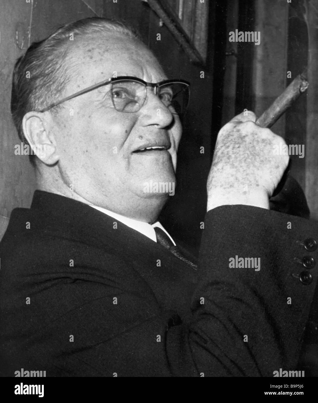 Josip Broz Tito Stock Photo