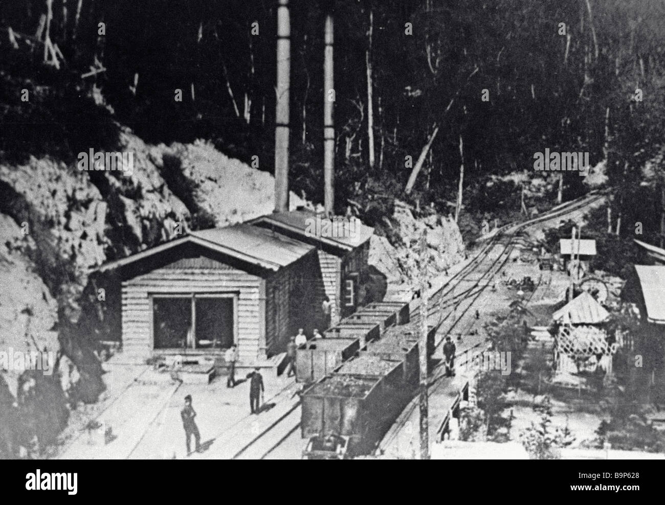 Spassky mine in the early 20th century - Stock Image