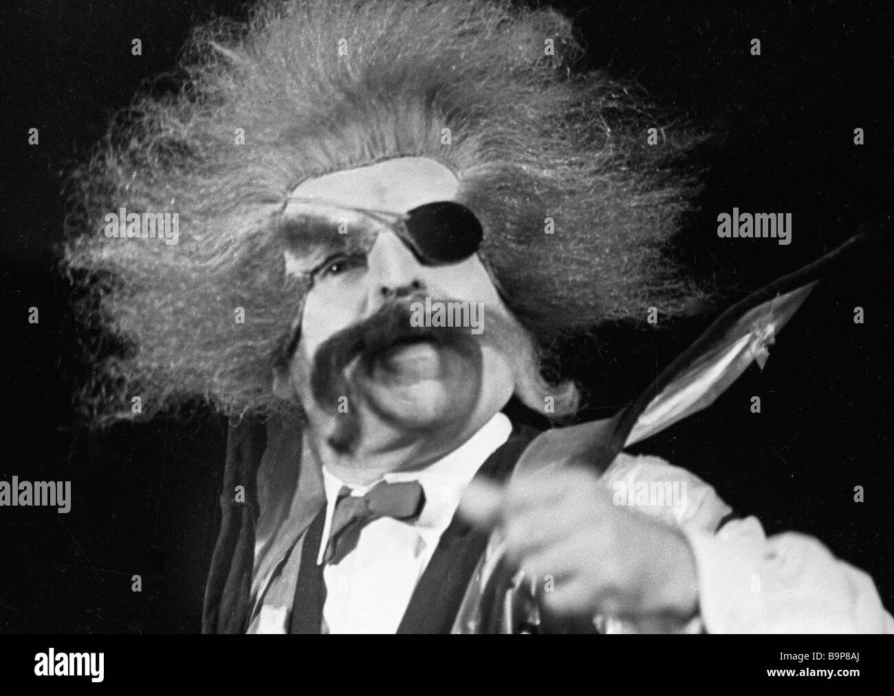 Actor Arkady Raikin as the Chief Wizard in the stage production of Wizards Live Next Door produced at the Leningrad - Stock Image