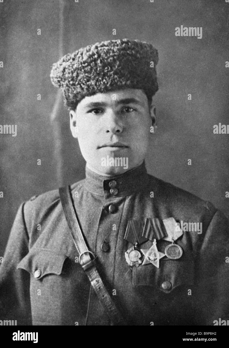 War veteran D Chervyakov - Stock Image