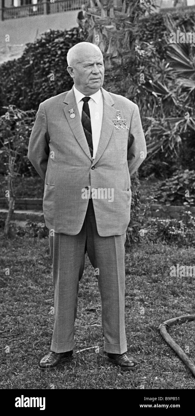 Nikita Khrushchev a Soviet politician - Stock Image