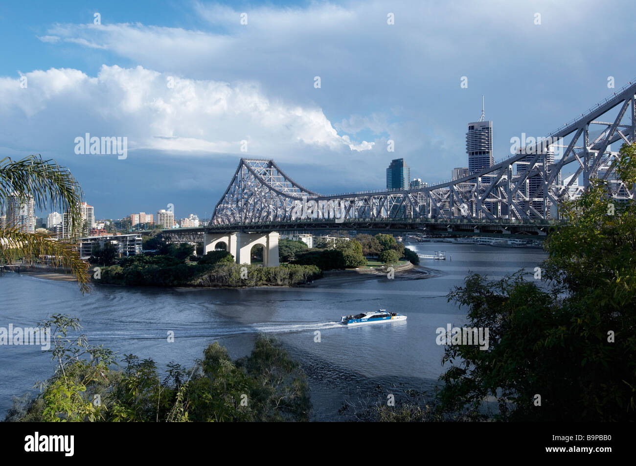 The Story Bridge Brisbane Australia - Stock Image