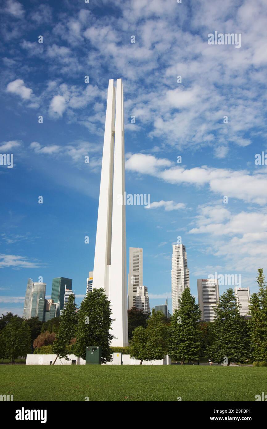 Civilian War Memorial, Singapore - Stock Image