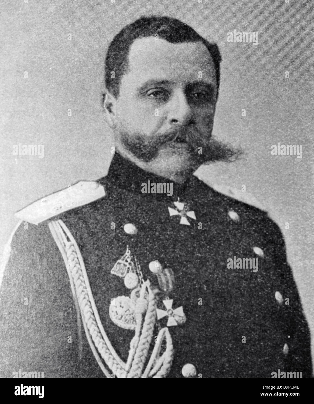 General Pavel Rennenkampf commanderof the Vilno military district s forces during World War One - Stock Image