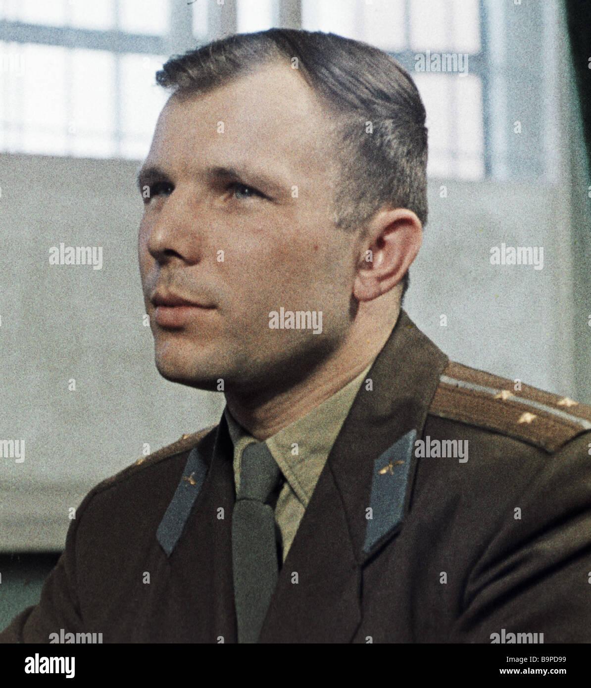 Yuri Gagarin the world s first spaceman - Stock Image