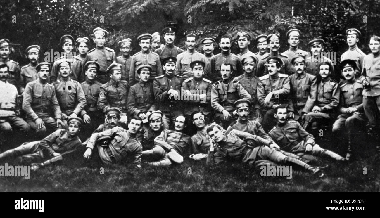 The Polish battalion that sided with the October revolution in 1917 - Stock Image