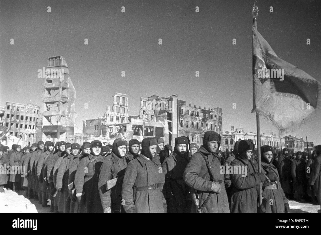 The parade in honor of Stalingrad s liberation - Stock Image