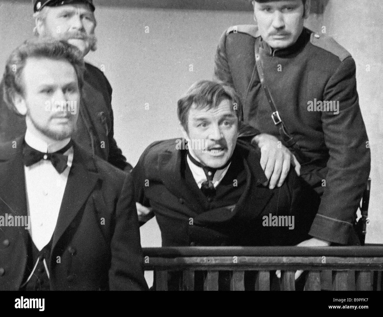 Actor Mikhail Ulyanov as Dmitry Karamazov in film The Brothers Karamazov - Stock Image