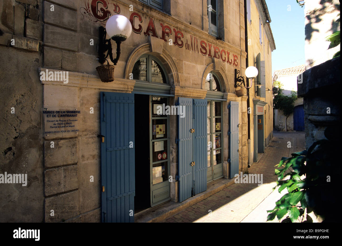 France, Gard, Vallabregues, Basket Weaving and Crafts Museum - Stock Image