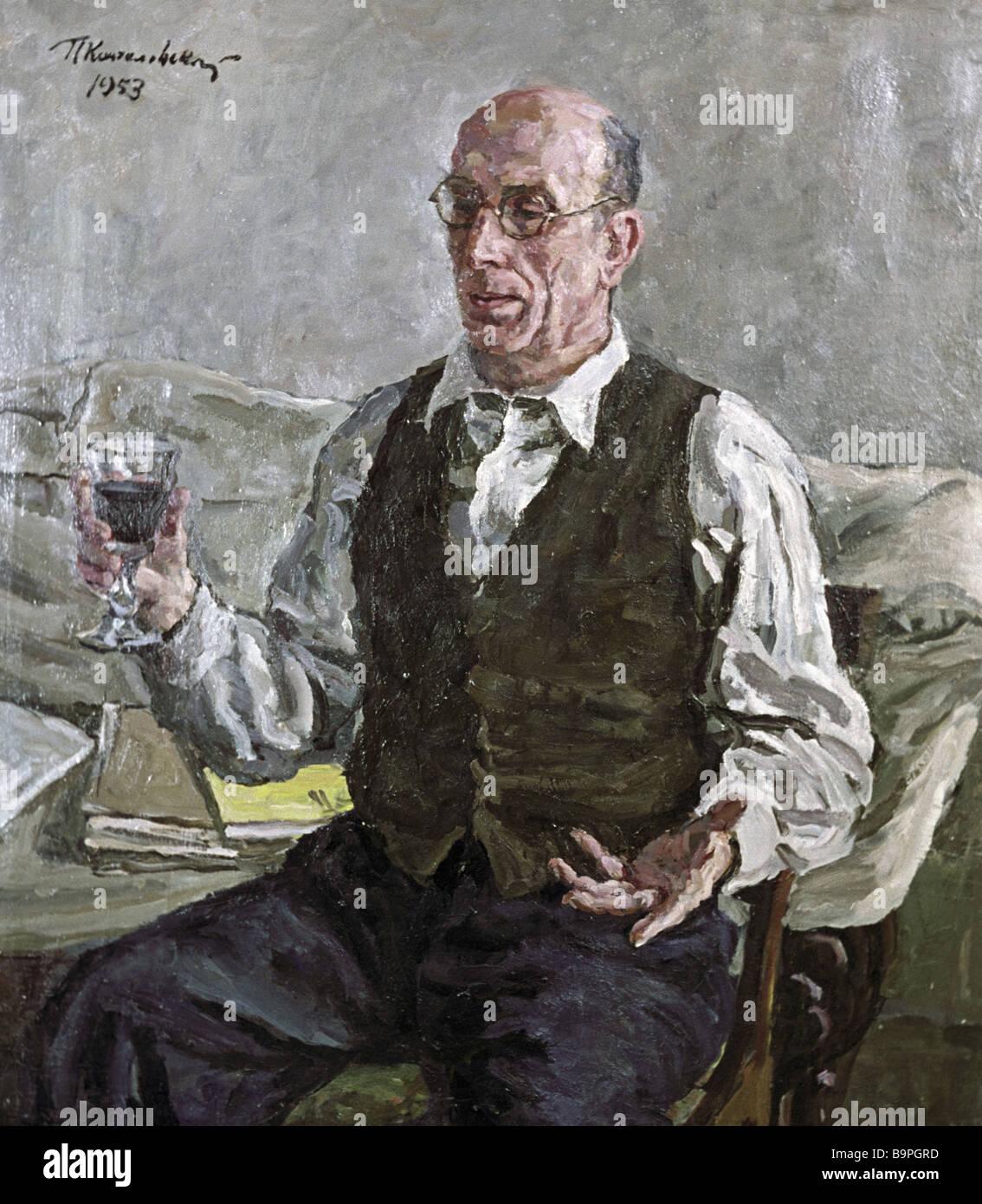 A portrait copy of the Spanish artist Alberto Sanchez by Pyotr Konchalovsky - Stock Image
