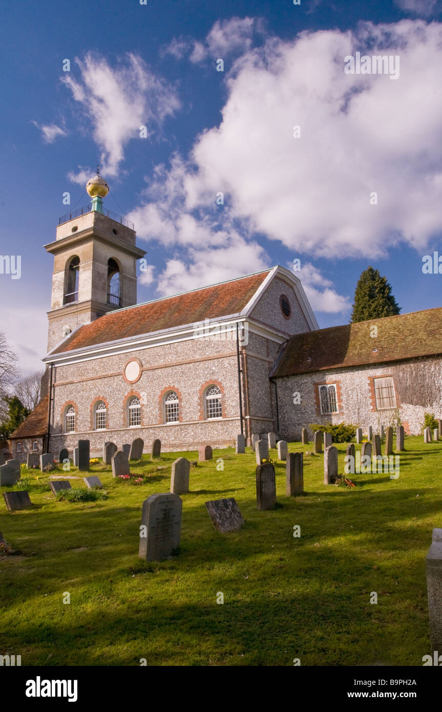 St Lawrence Church West Wycombe Buckinghamshire - Stock Image