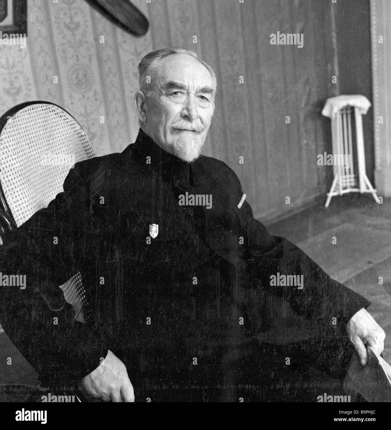 Old Russian airman Boris Rossinsky - Stock Image