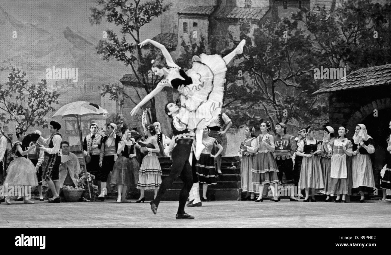 Scene from Ludwig Minkus s ballet Don Quixote staged by the Bolshoi Theatre - Stock Image