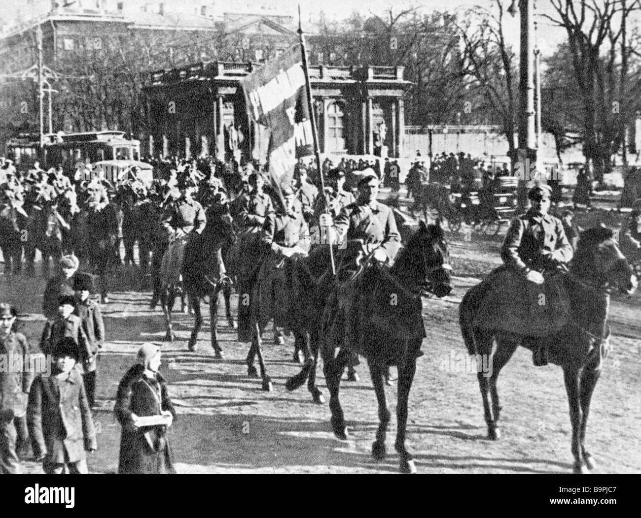The Workers and Peasants Red Army s 1st Cavalry of the 1st Cavalry Corps - Stock Image