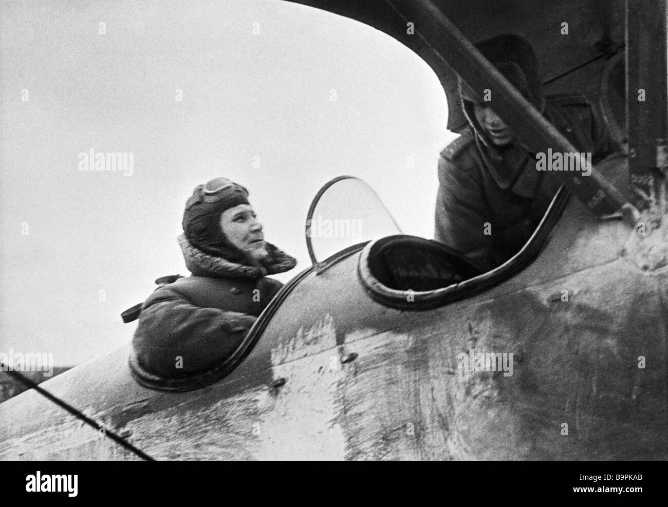 Commander of the 2nd Ukrainian Front Marshal of the Soviet Union I Konev flying to the front line - Stock Image