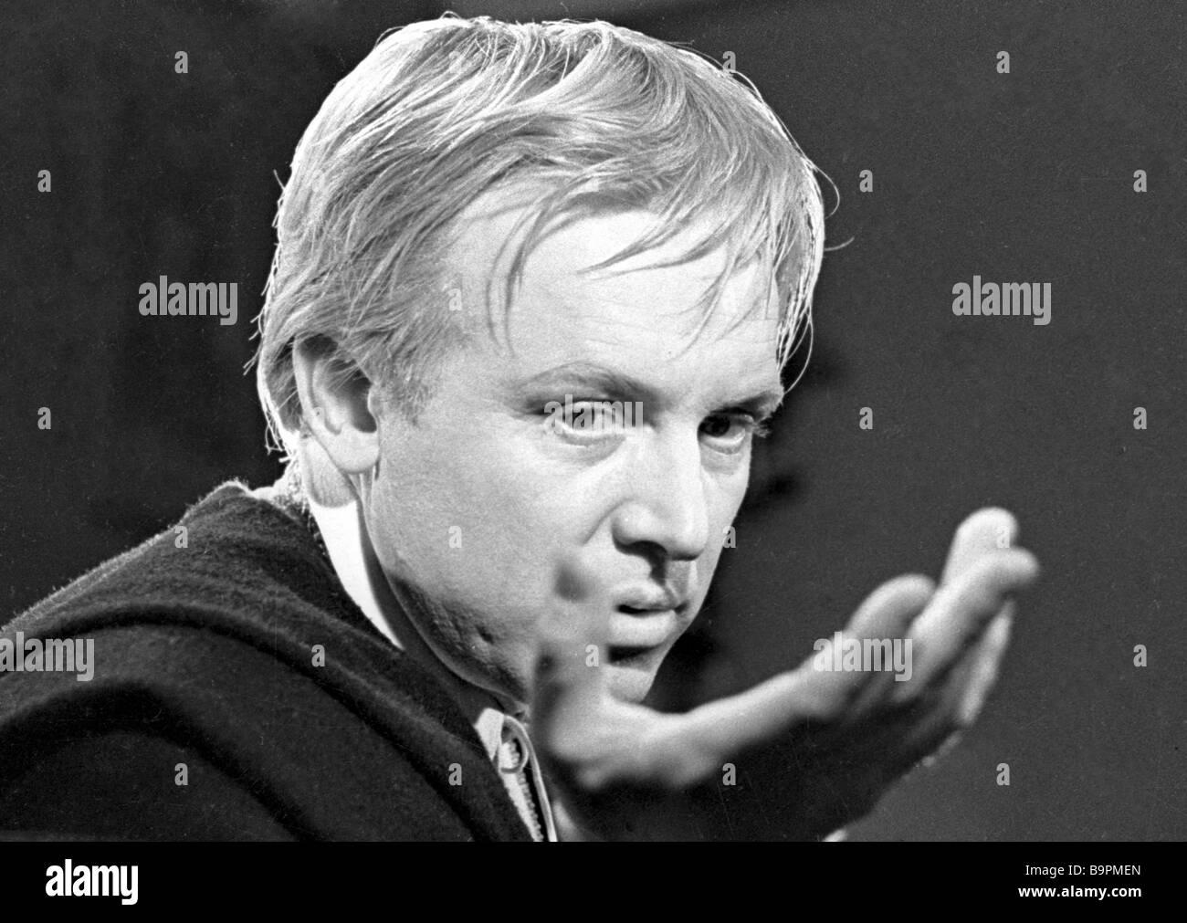 Innokenty Smoktunovsky as Hamlet in the film Hamlet - Stock Image