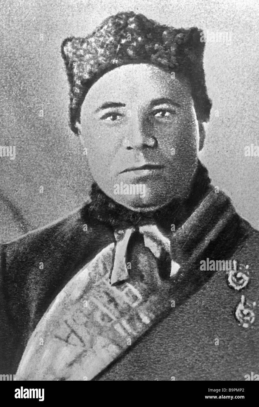Iosif Apanasenko division commander 1st Cavalry Army - Stock Image