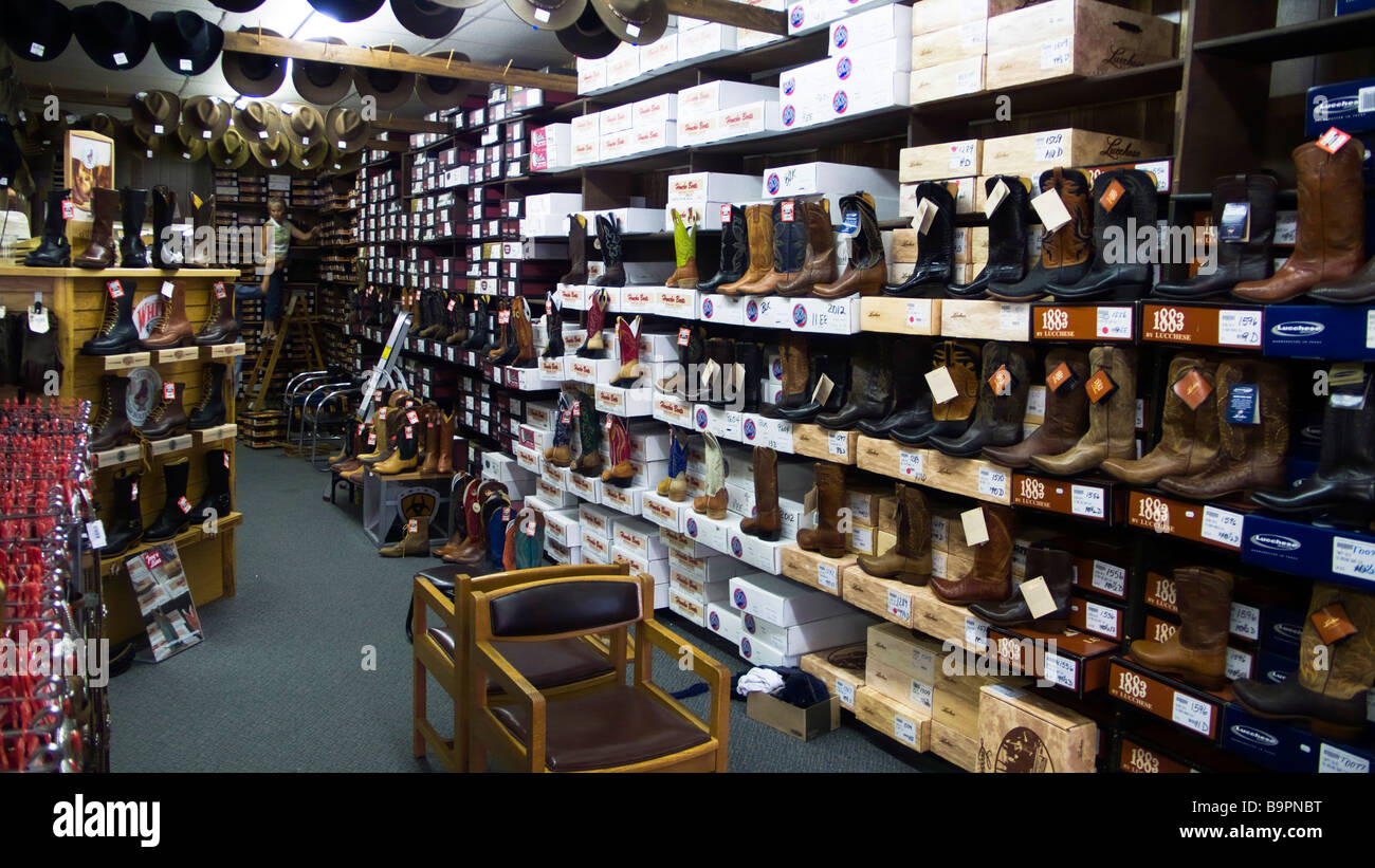 Cowboy boots and stetson hats western outfitter store Cody Wyoming ... 9c83d8b3804