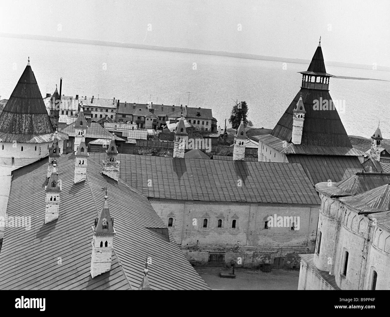 Southern part of the Rostov fortress XVI XVII century - Stock Image