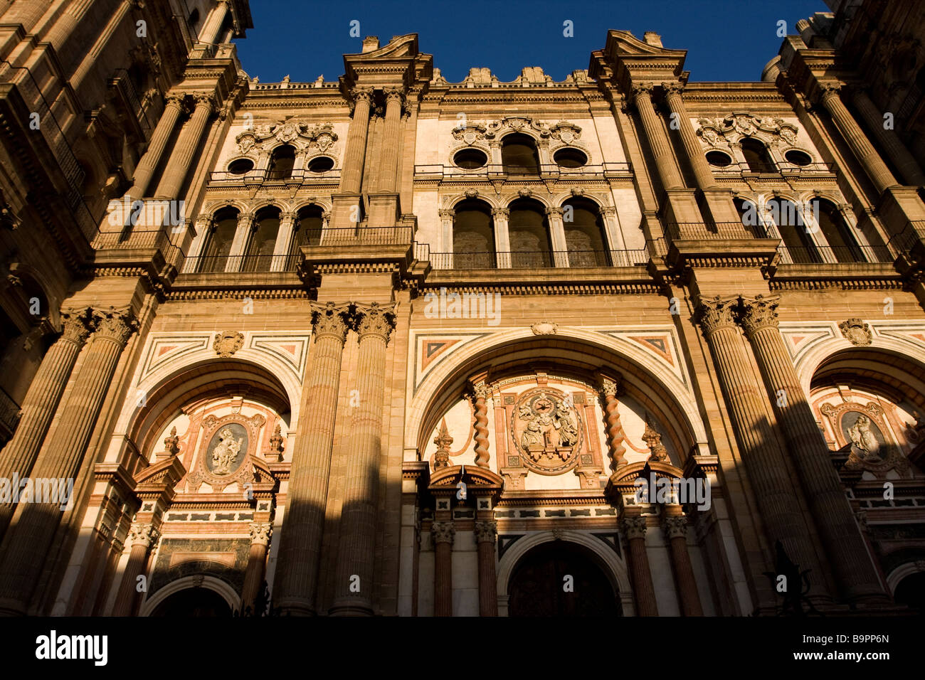 Malaga Cathedral, Spain - Stock Image