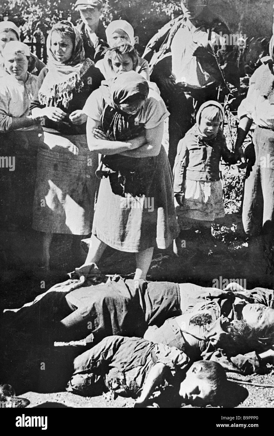 Civilians killed by the Nazi - Stock Image