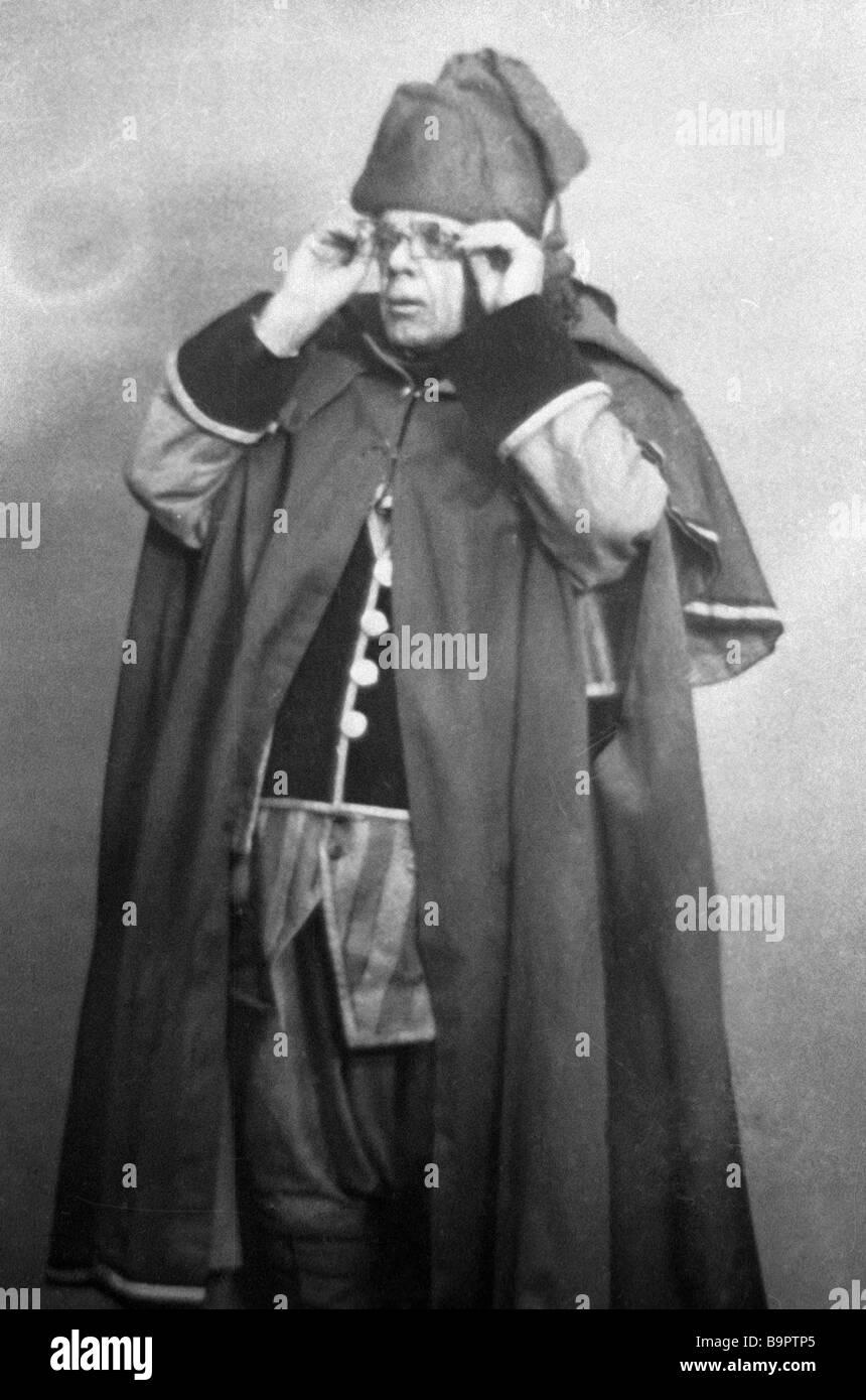 Beaumarchais La Folle journee ou Le Mariage de Figaro on at the Moscow Arts Theatre Vasily Luzhsky as Dr Bartolo - Stock Image