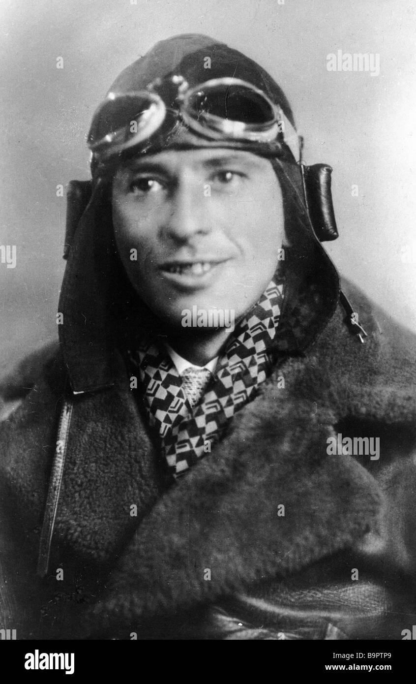Soviet pilot Shestakov - Stock Image