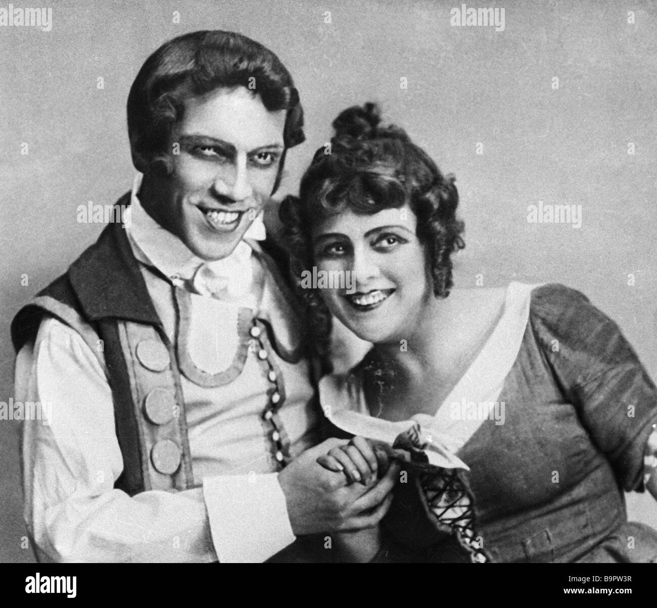 Beaumarchais La Folle journee ou Le Mariage de Figaro on at the Moscow Arts Theatre Olga Androvskaya as Suzanne - Stock Image